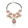 bijoux Collier fantaisie multicolore Strass