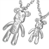 bijoux Collier Teddy Bear Fantaisie Zirconias