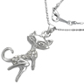 bijoux Collier Fantaisie Kitty Zirconias