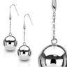 bijoux Boucles d'oreille acier 20mm Light Steel Ball