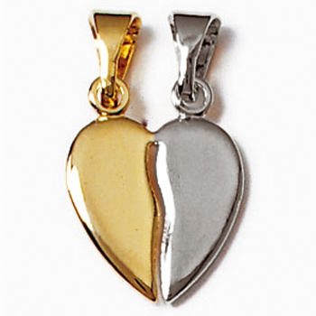 Pendentif-Plaque-or-Bicolore-Coeur-Secable-Simple